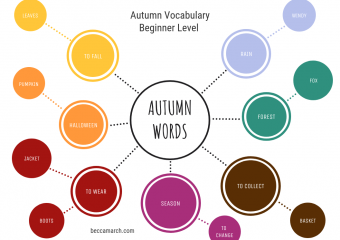 15 Beginner Level Words for Autumn